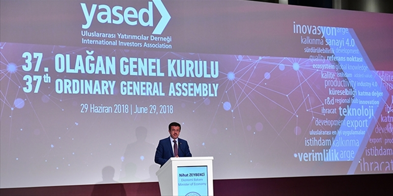 The 37th YASED General Assembly Meeting took place with the participation of Nihat Zeybekci, Minister of Economy.